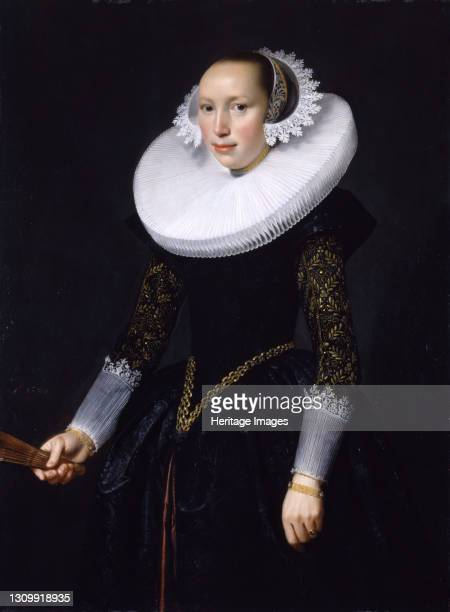 Portrait of a Woman, 1630. Artist Nicolaes Eliasz Pickenoy. .