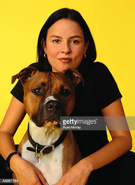Portrait of a Woman and Her Pet Dog
