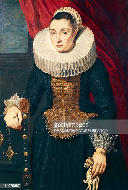 Portrait of a woman by a follower of Anton van Dyck oil on canvas Strasbourg Musée Des BeauxArts
