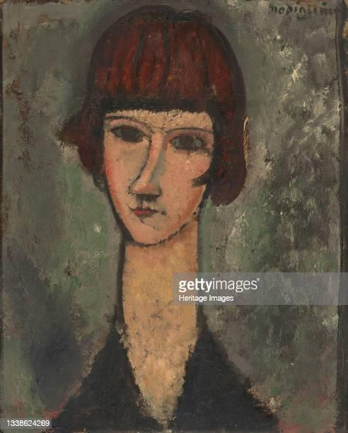 Portrait of a Woman, circa 1917/19. Artist Amadeo Modigliani.