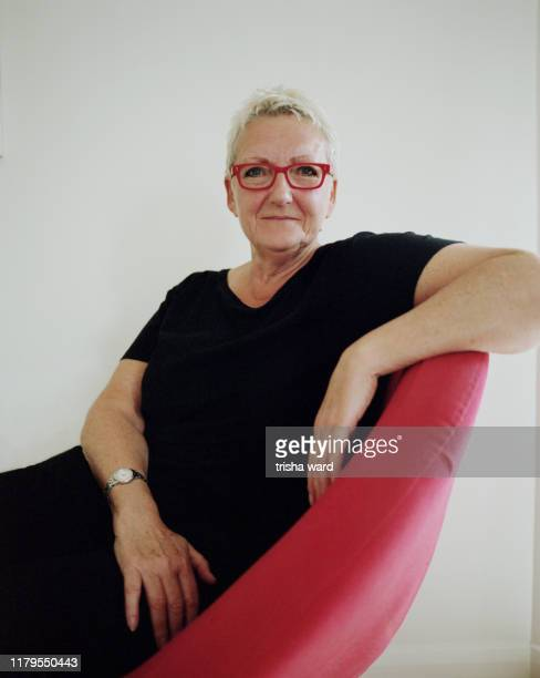 A portrait of a woman from the LGBT community
