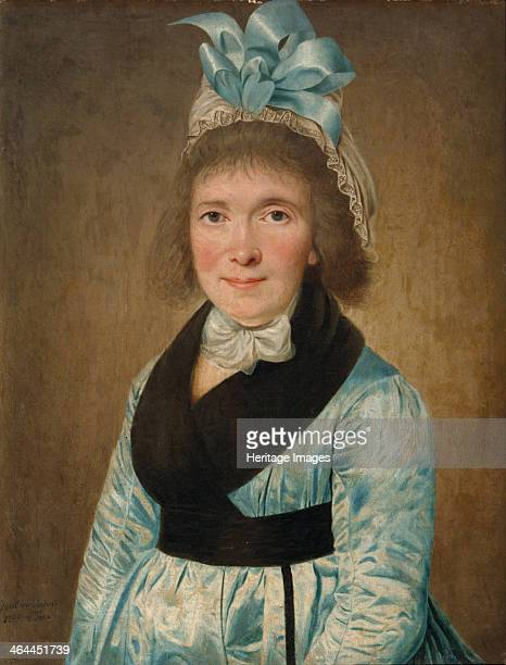 Portrait Of a Woman In a Blue Dress, 1799. Found in the collection of the Regional I. Kramskoi Art Museum, Voronezh.