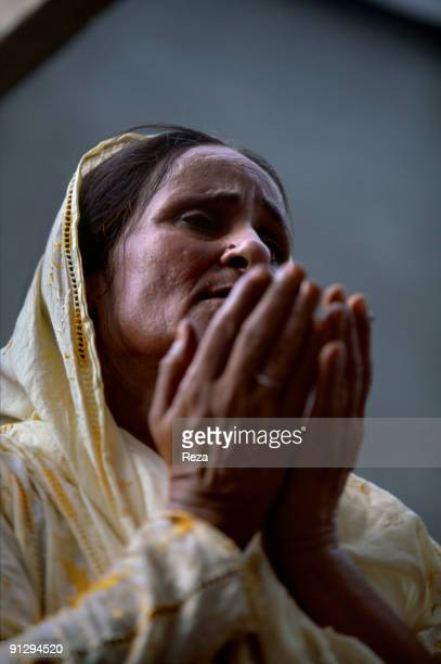 Portrait of a woman in pilgrimage in Sehwan sharif during the annual celebrations of Lal shahbaz Qalandar a 13th century Sufi Master worshiped alike...