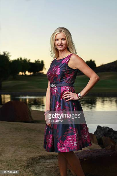 portrait of a woman on a golf course in san diego, ca. - purple dress stock pictures, royalty-free photos & images