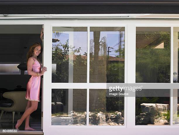 portrait of a woman - women in slips stock photos and pictures