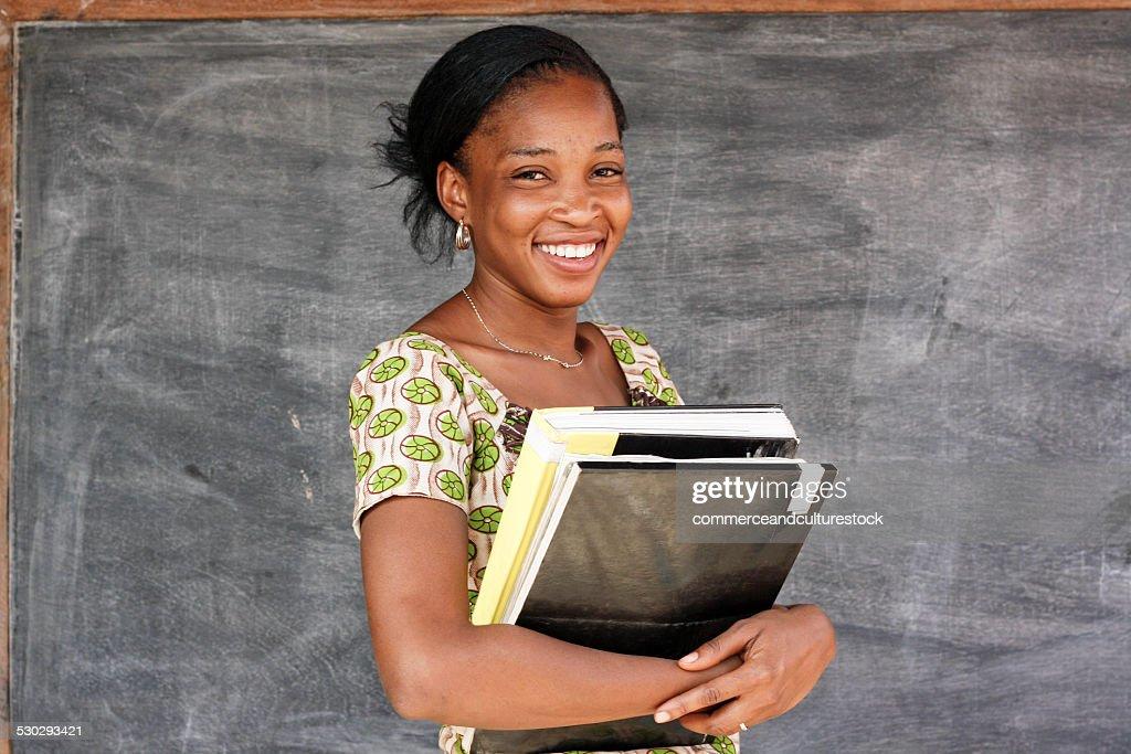 Portrait of a woman teacher : Stock Photo