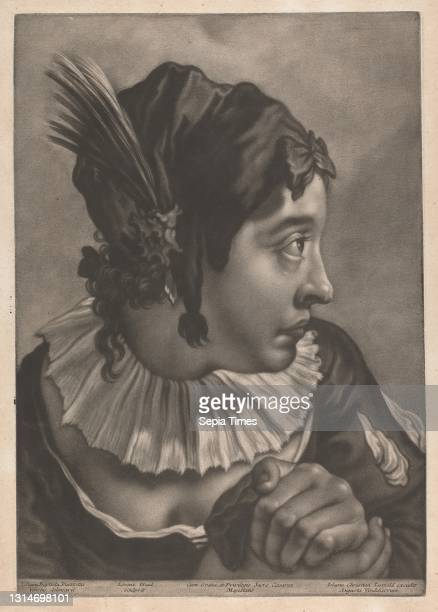 Portrait of a Woman Wearing a Feather, Print made by Johann Lorenz Haid, 1702–1750, German, after Giovanni Battista Piazzetta, 1682–1754, Italian,...