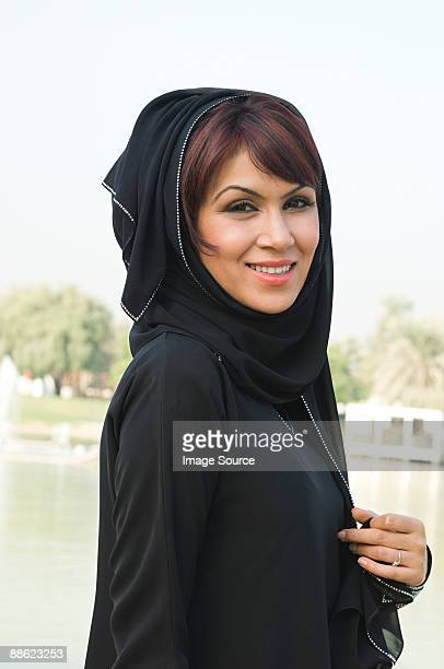 Portrait of a woman wearing a hijab