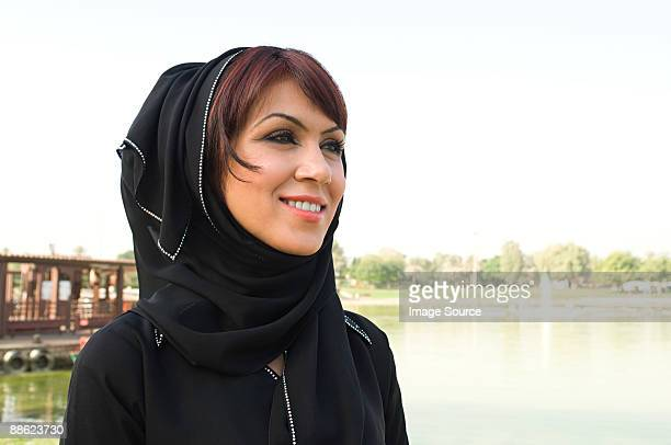 Portrait of a woman wearing a hijab