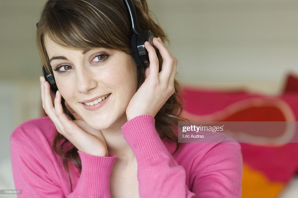 Portrait of a woman wearing s : Stock Photo