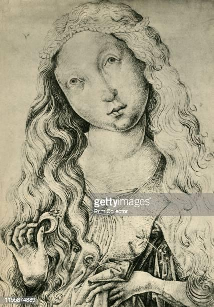 Portrait of a woman with a ring 14501470 Drawing in the Kupferstichkabinett Berlin From Europäische Handzeichnungen by Bernhard Degenhart...