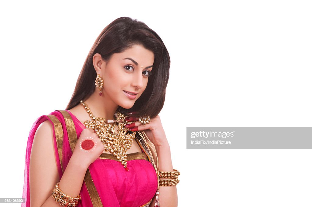 Portrait of a woman with jewelery : Stock Photo