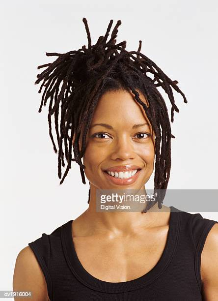 Portrait of a Woman With Long Dreadlocks