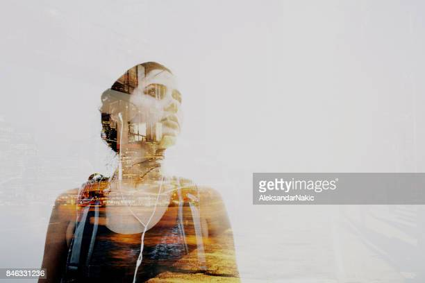 portrait of a world traveller - will power stock photos and pictures
