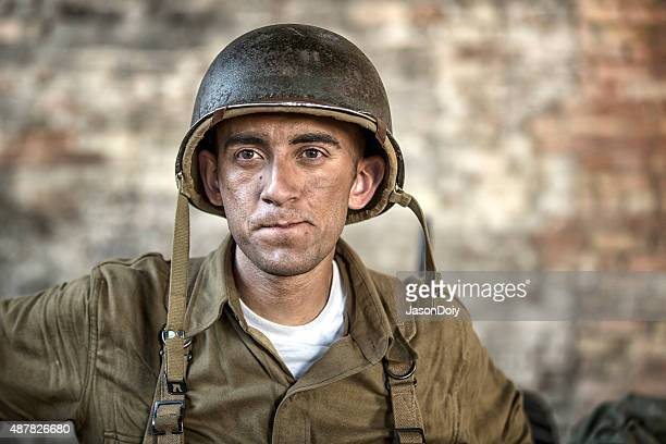 Portrait of a World War II Army Soldier