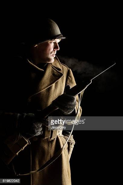 Portrait de la Seconde Guerre mondiale Lieutenant