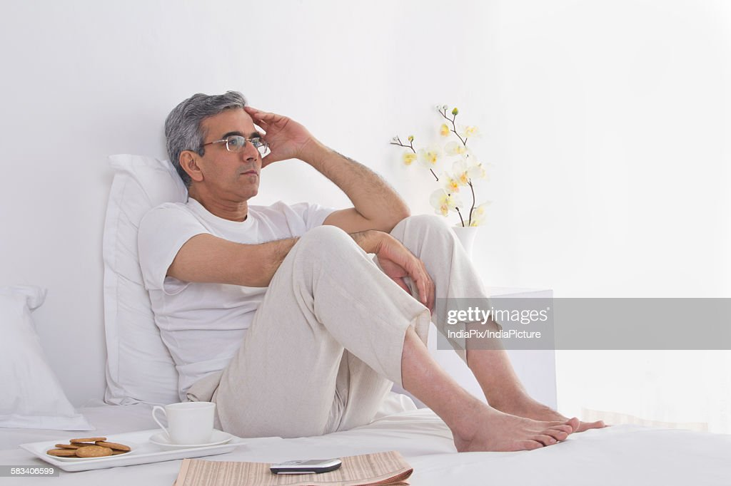 Portrait of a worried man : Stock Photo
