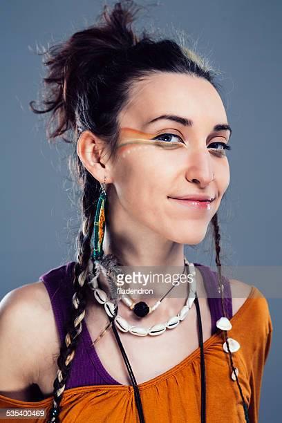 Portrait d'une jeune fille youn