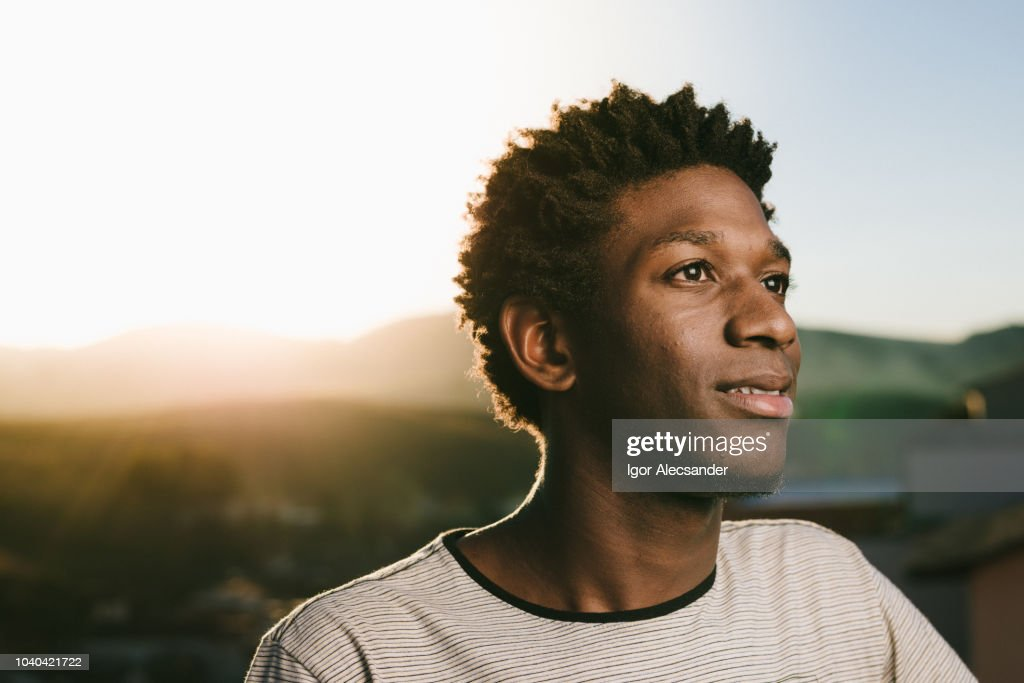 Portrait of a young African American : Stock Photo
