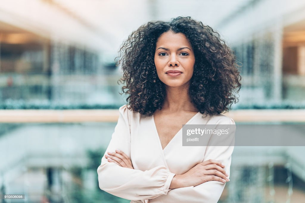 Portrait of a young African ethnicity businesswoman : Stock Photo