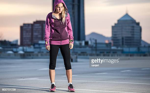 Portrait of a Young Athlete in a Urban Enviroment