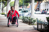 Portrait of a Young Black Woman in a Wheelchair