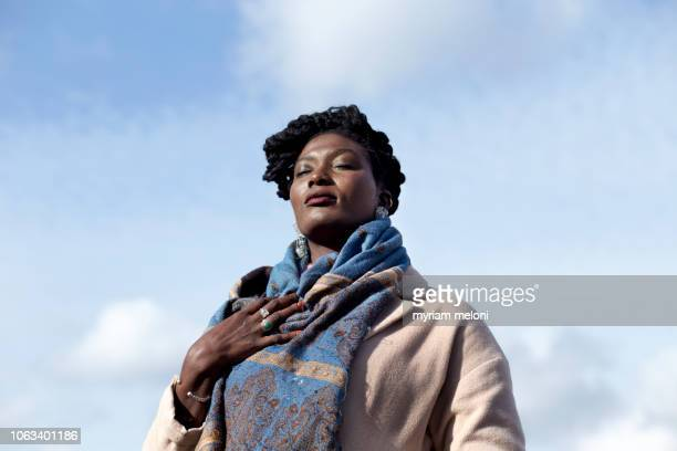 portrait of a young black woman - showus stock pictures, royalty-free photos & images