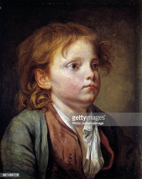 Portrait of a young boy Painting by JeanBaptiste Greuze 18th century 040 x 032 m Conde Museum Chantilly France