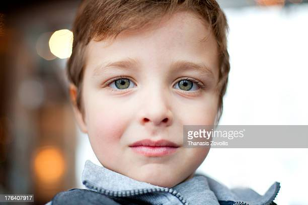 portrait of a young boy - hazel eyes stock pictures, royalty-free photos & images