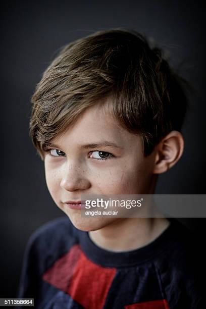 portrait of a young boy - angela auclair stock pictures, royalty-free photos & images