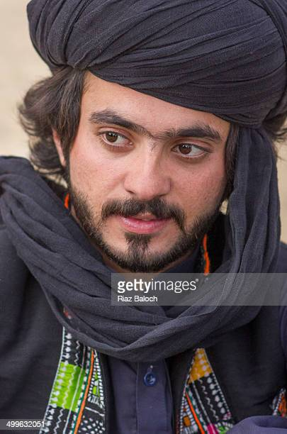 Portrait of a young Bugti