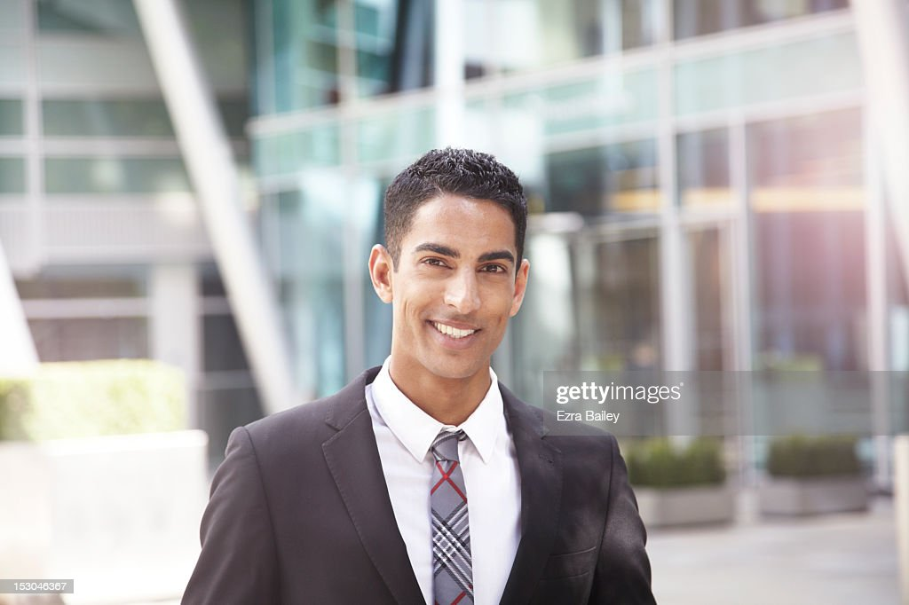 portrait of a young businessman. : Stock Photo