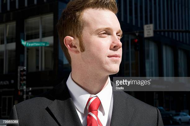 portrait of a young businessman - sideburn stock pictures, royalty-free photos & images