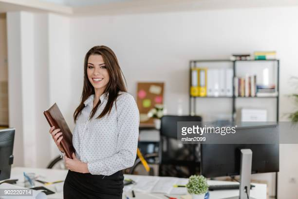 Portrait of a young businesswoman in her office