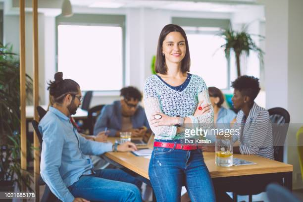 portrait of a young businesswoman - pbs stock pictures, royalty-free photos & images