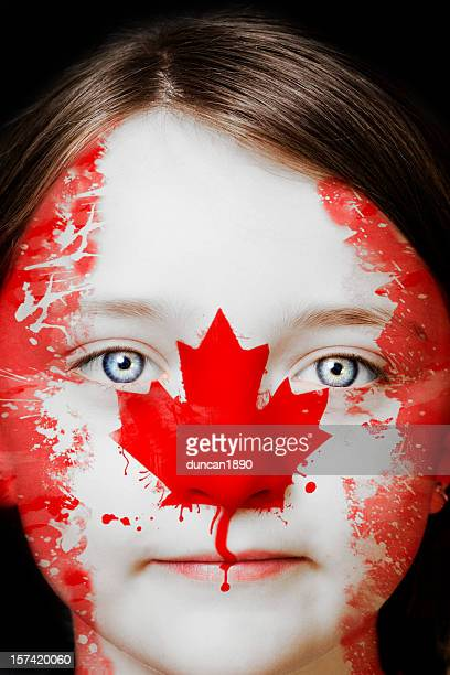 Portrait of a young Canadian girl