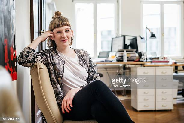 Portrait of a young casual start up businesswoman