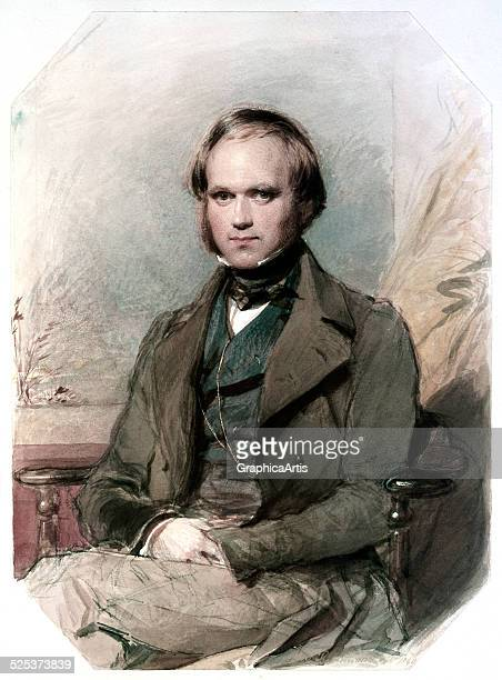 Portrait of a young Charles Darwin in 1840; watercolor and chalk on paper by George Richmond, 1840.