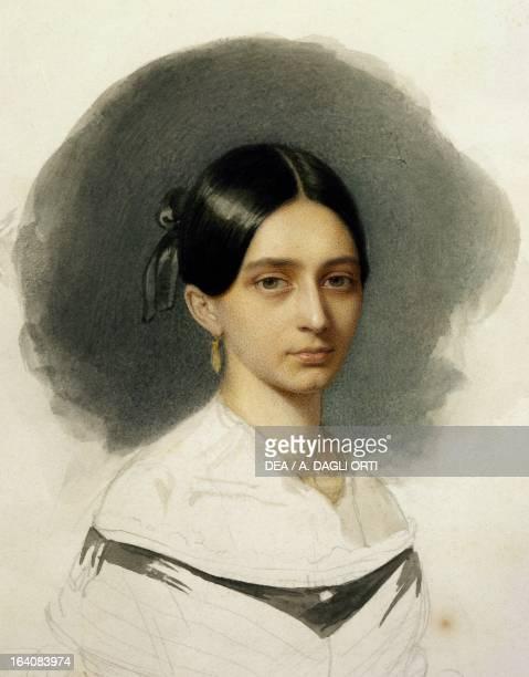 Portrait of a young Clara Wieck , wife of Robert Schumann . Zwickau, Robert-Schumann-Haus
