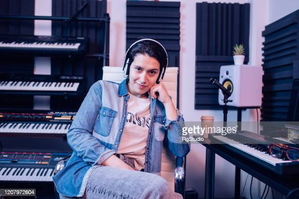 portrait of a young, confident music producer - producer stock pictures, royalty-free photos & images