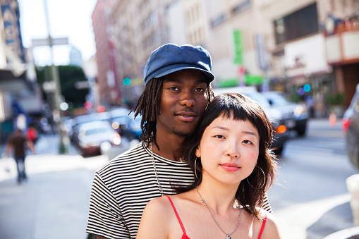 Portrait of a young couple - gettyimageskorea