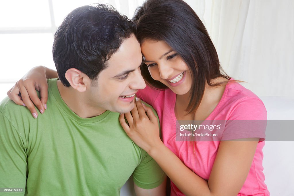 Portrait of a young couple : Stock Photo