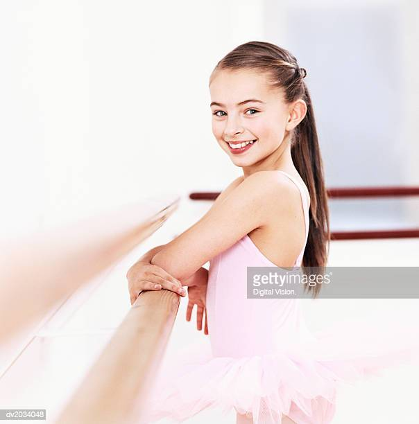 Portrait of a Young, Female Ballet Dancer in a Dance Studio