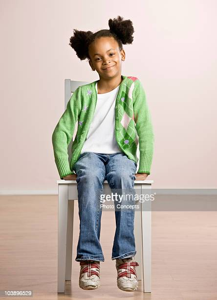 portrait of a young girl - sitting stock pictures, royalty-free photos & images