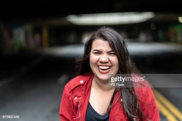portrait of a young girl - fat girls stock photos and pictures