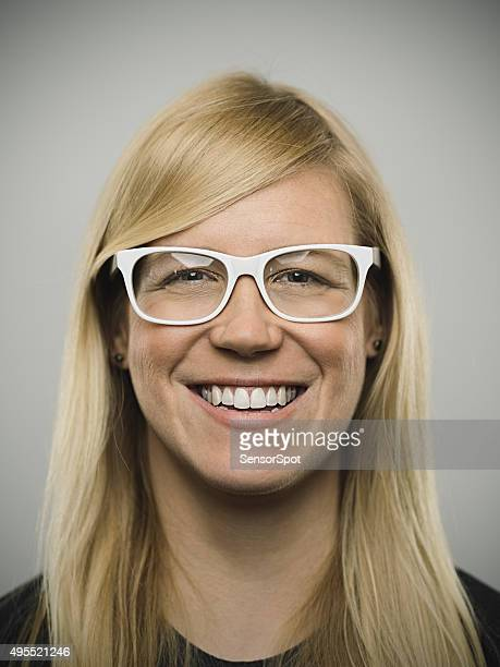 Portrait of a young happy australian woman looking at camera