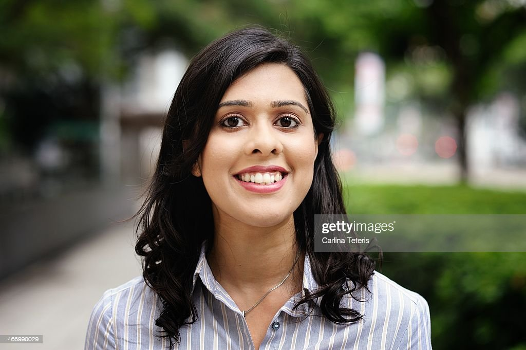 Portrait of a young Indian business woman : Stock Photo