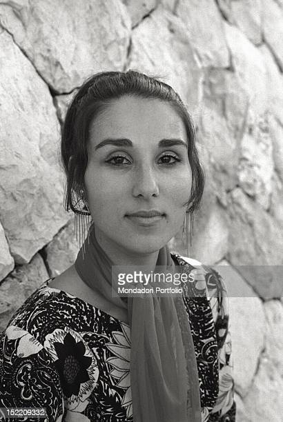 Portrait of a young Israeli woman a member of the staff at the Shrine of the Book a wing of the Israel Musem in Jerusalem Jerusalem December 1969
