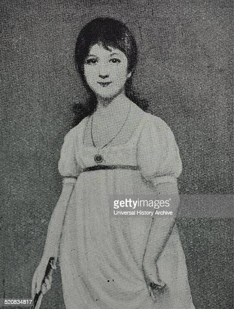 Portrait of a young Jane Austen an English novelist whose works of romantic fiction set among the landed gentry earned her a place as one of the most...