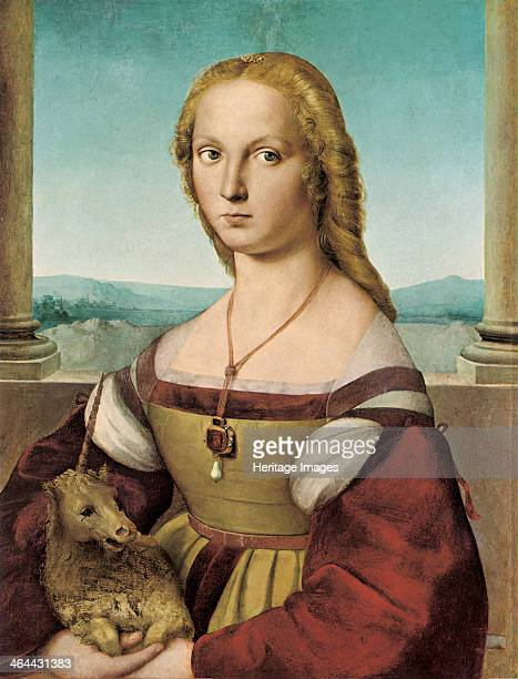 Portrait of a Young Lady with a Unicorn 15051506 Found in the collection of the Galleria Borghese Rome